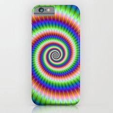 Green Blue Red and Yellow Spiral iPhone 6 Slim Case