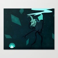 Canvas Print featuring At The Bottom by Doc Diventia