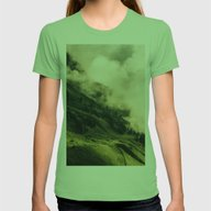 Wander II Womens Fitted Tee Grass SMALL