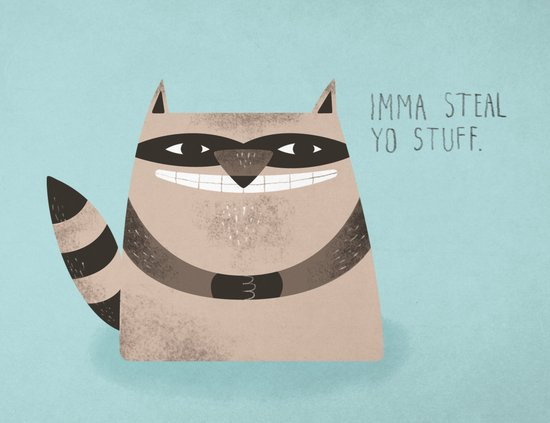 Sneaky Raccoon Canvas Print
