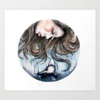 Jaws // Fashion Illustra… Art Print