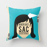 Saç Throw Pillow