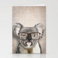 A Baby Koala With Glasse… Stationery Cards