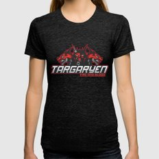 Team Targaryeen (GoT) Womens Fitted Tee Tri-Black SMALL