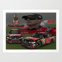 One More #NASCAR Kevin H… Art Print