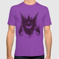 Mega Ghost Mens Fitted Tee Ultraviolet SMALL