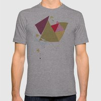 Exploding Triangles//Four Mens Fitted Tee Athletic Grey SMALL