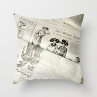 Old Vintage Newspaper Le… Throw Pillow