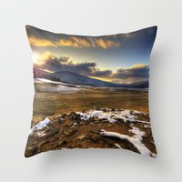 Winter Sun Throw Pillow