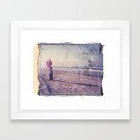 Beach Baloons Framed Art Print