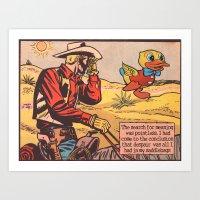 Cowboy Despair Art Print