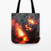 Flaming Seashell 4 Tote Bag