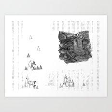 abstrct anml Art Print