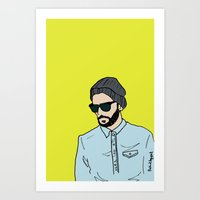 Grey Beanie Art Print