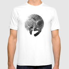 PURRFECT MOON White Mens Fitted Tee SMALL
