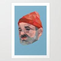 Steve Zissou / Bill Murray / Life Aquatic Art Print
