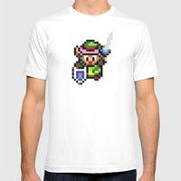 Legend of Zelda - Link Mens Fitted Tee White SMALL