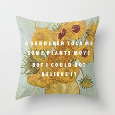 Hunting For Sunflowers Throw Pillow