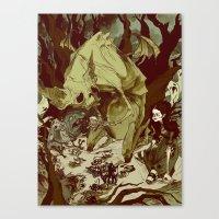 Monster Tea Party Canvas Print