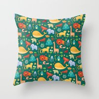 Animals Throw Pillow