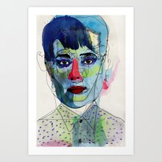 girl 03 Art Print