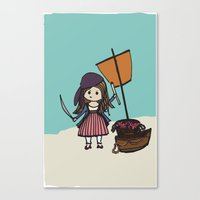Pirate Hearts Canvas Print