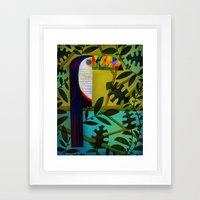 CONSPICUOUS BEAK Framed Art Print