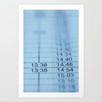Schedule Art Print