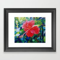 Tropical Hibiscus Framed Art Print