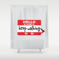 The Red Badge of Discourage Shower Curtain
