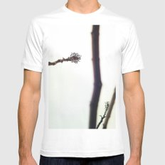 Distance White Mens Fitted Tee SMALL