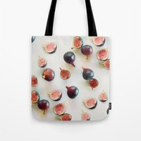 Fresh Figs On Linen Tote Bag