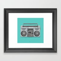 Boom Framed Art Print