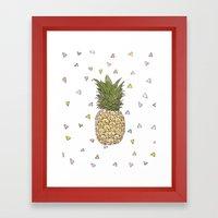 Pinapple Framed Art Print