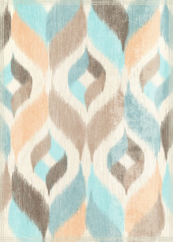 Soothing Waves Ikat Art Print