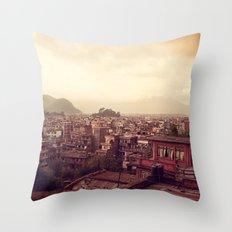 Kathmandu Sea Throw Pillow