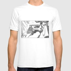 Apollonia Saintclair 532… Mens Fitted Tee White SMALL