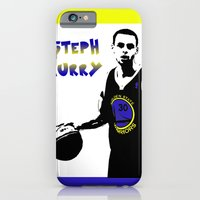 iPhone & iPod Case featuring Stephen Curry Golden State Point Guard  by The Squatcher