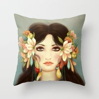 Helen Of Troy Throw Pillow