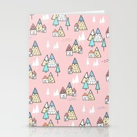 PINK MAGIC FOREST Stationery Cards