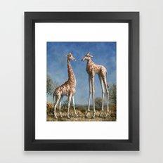 Emmm...Welcome to the herd... Framed Art Print