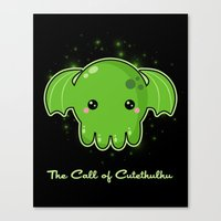 The Call Of Cutethulhu Canvas Print