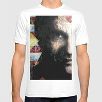 Johnny Cash Mens Fitted Tee White SMALL
