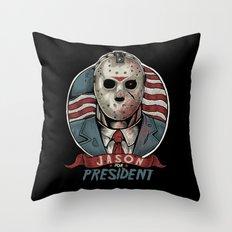 Jason For President Throw Pillow
