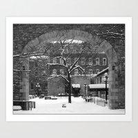 'Winter Courtyard' Art Print