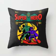 Superhero Comic Throw Pillow
