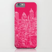 iPhone & iPod Case featuring London! Hot Pink by David Bushell