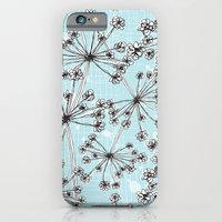 iPhone & iPod Case featuring Contemporary Cow Parsley  by Rachael Taylor