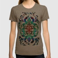 Dreaming in Lucidity Womens Fitted Tee Tri-Coffee SMALL