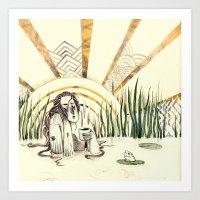 River Lady - Coloured Art Print